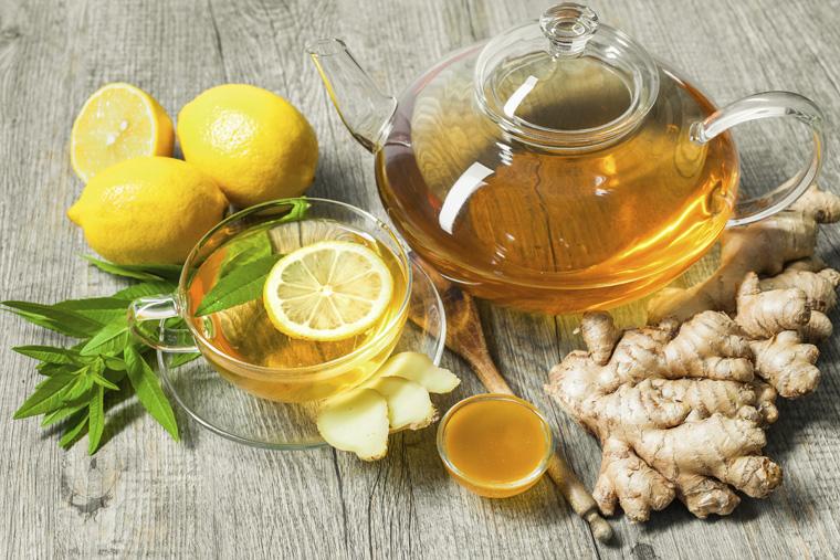 uống nước chanh trà gừng cách chữa đau đầu không dùng thuốc hiệu quả