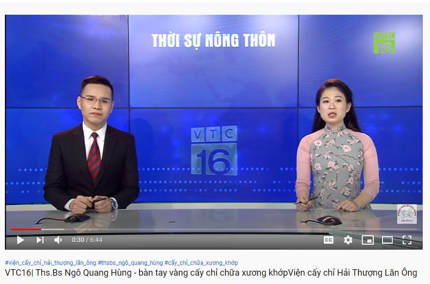 VTC16| Phương pháp cấy chỉ chữa xương khớp của Ths.Bs Ngô Quang Hùng-Viện cấy chỉ Hải Thượng Lãn Ông