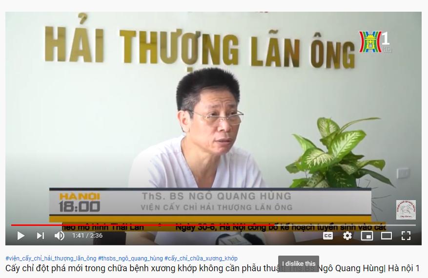 Hà Nội 1| Ths. Bs Ngô Quang Hùng với phương pháp cấy chỉ Catgut đã mở ra cuộc cách mạng trong điều trị bệnh xương khớp không cần phẫu thuật
